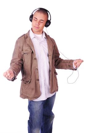 Male Hispanic Teen w Headphones iStock_000005719423XSmall
