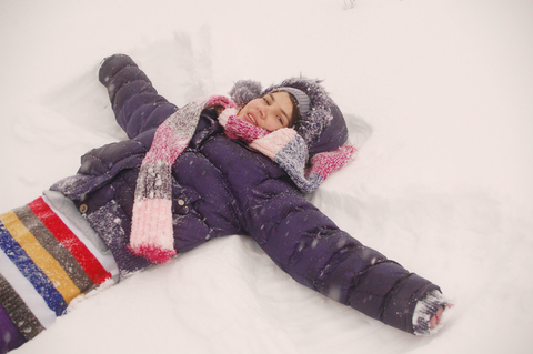 teen snow angel