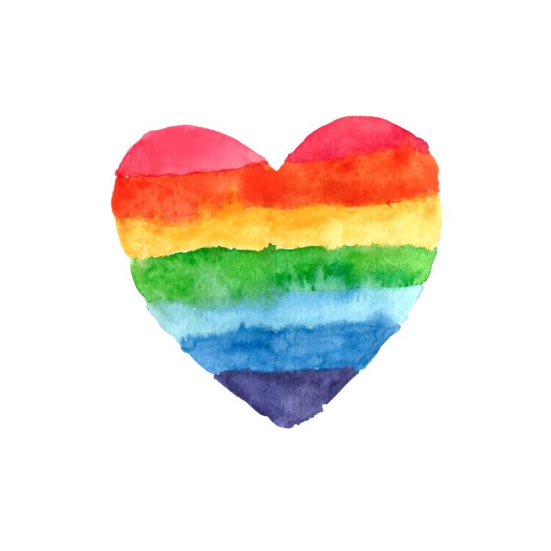 rainbow heart Orlando